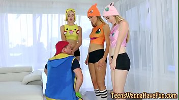 real costumed nubiles pound