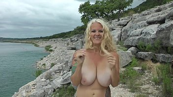 MASSIVE TITS Amateur YouTuber Jumping and Bouncing Giant Boobs