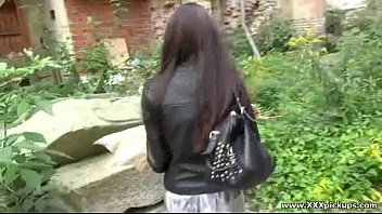 Public Hardcore Sex - Sexy young babes fucked outside in public 17