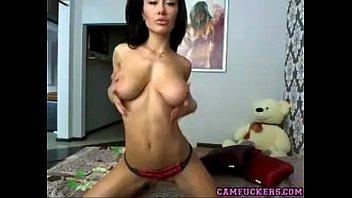 supah-hot dark-hued-haired fucktoys on webcam