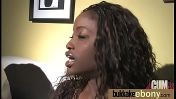 Ebony Slut Gets An Interracial Group Sex 15