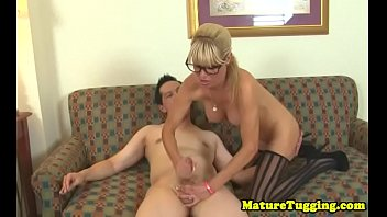spex cougar stroking guy sausage while.