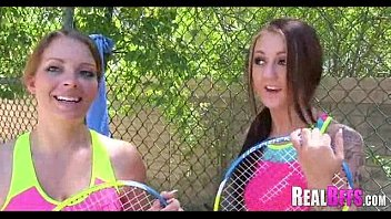 College girls tennis match turns to orgy 155