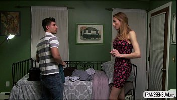 transsexual stepmum savannah allures hunk into a suggestive.