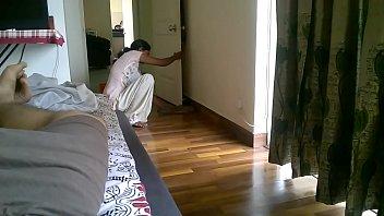 maid displaying cleavage