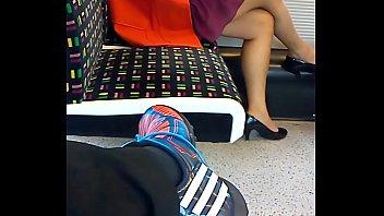 luxurious painted feet on london underground