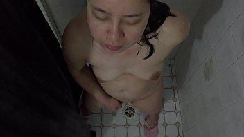 japanese cougar - showering amp_ muff.