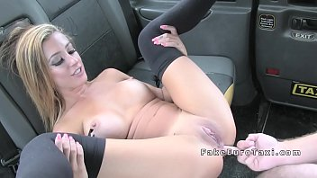 ebony-haired gets thick trunk in the donk in cab