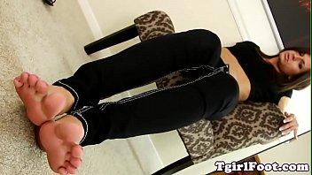 feet enjoying t-girl displays off her.