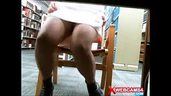 girl masturbating webcam at library