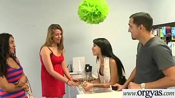 (Esmi Lee&amp_Ava Taylor) Superb Girl Get Seduced With Money And Bang On Camera clip-11