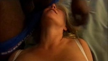Hot slut wife takes a load of cum in the mouth while getting fucked