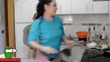 jesus surprises pamela in the kitchen and plumbs.