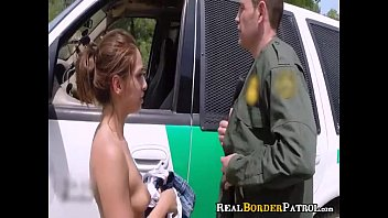border agent blackmails illegal hispanic twat