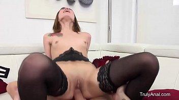 Skinny Brunette Gets Butt-fucked