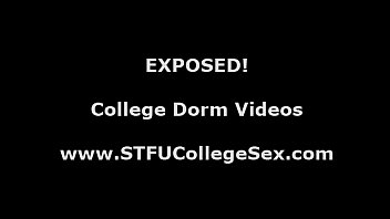 Group of college babes sucking cock in dorm toilets
