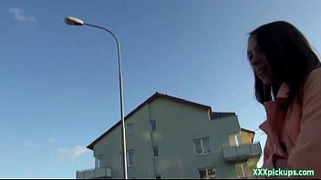 public pickups - czech unexperienced teenager pokes outdoor.