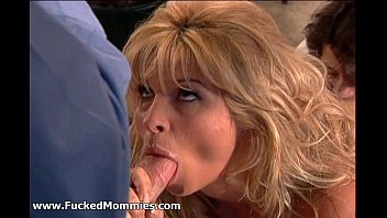 uber-sexy silver-blonde mother gargle and poke two yam-sized sausages