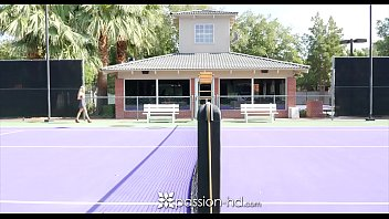 PASSION-HD Petite blonde Bella Rose fucks tennis instructor