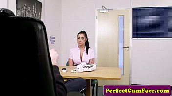monstrous-titted tatted stunner facialized during casting