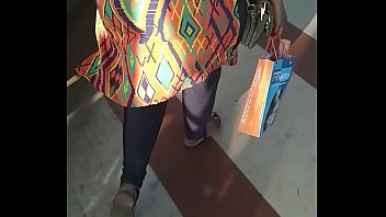 Big Indian aunty ass walking