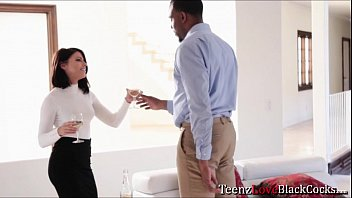Hot babe Adriana seduces her client and sucks his big cock