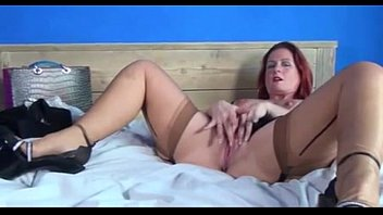 supah hot mature ginger-haired disrobes amp_ shares her.