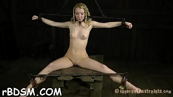 Slave receives lusty gazoo whipping before pussy torturing