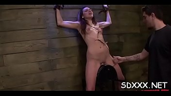 Restrained doxy gets huiliated as she'_s coercive to deepthroat