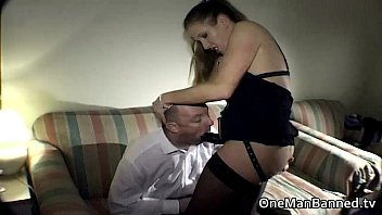 strap on domina pegging her victim