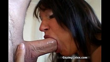 Brunette slut sucking dick and titty