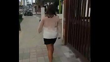 Colombian puta walks barefoot in street for money
