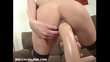 gigantic-boobed ash-blonde bounces up and down on a.
