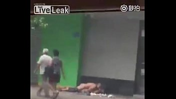 bang-out in sidewalk china