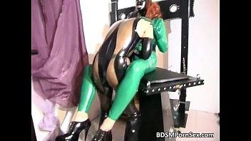 spandex mega-bitch gets confine bondage and.