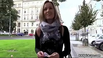 Outdoor Blowjob For Cash With Naughty Czech Slutty Teen 09