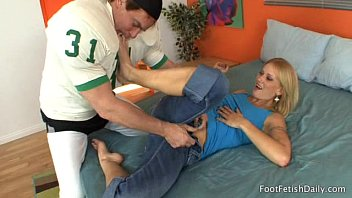 Foot Fetish Daily free video  Adrian Olson Gets Her Sexy Feet Worshipped Then Fucked   Porn Movies H