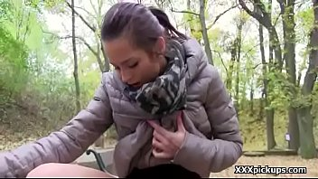 public pickup fledgling teenage screws for cash outdoors 14