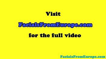 Busty facialized european amateur sucking pov