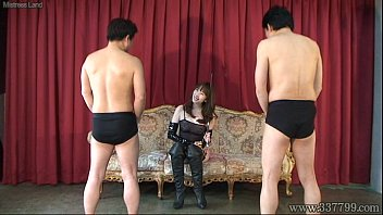 two guys is predominated by japanese domina aya kisaki