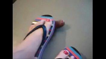 Red toes sandal cock crush  part 2 at hotfeetcams.com