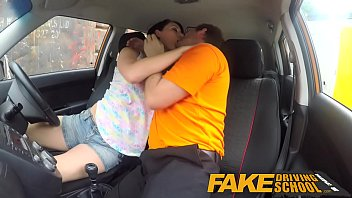 faux driving school dirty inward cash-shot ejaculation for.