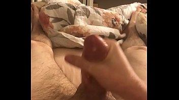 Jerking my big cock with huge cumshot