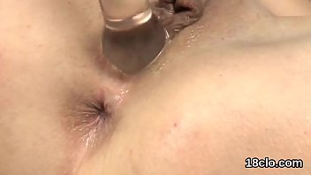 Lovely nympho is gaping soft muff in closeup and climaxing