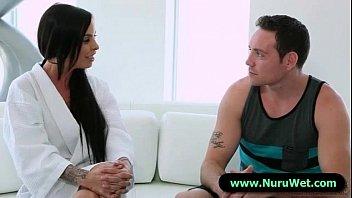wondrous masseuse gives a utter service nuru rubdown 15