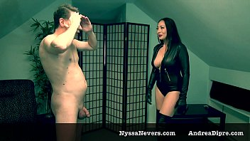 Ballbusting: Nyssa Nevers gives 1 hard kick in the balls of Andrea Dipr&egrave_