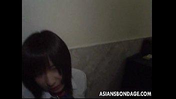 Shy Asian teen has a bdsm treatment she has to endure