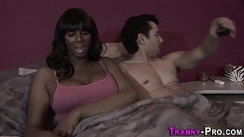 ebony tgirl escort spunked