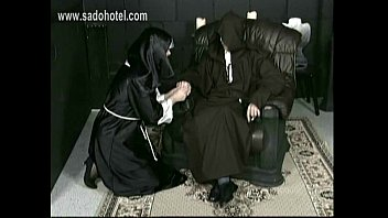 nasty nun with her microskirt up lounging on.