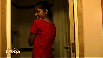 supah-steamy cool indian very first-timer honey divya in bathroom